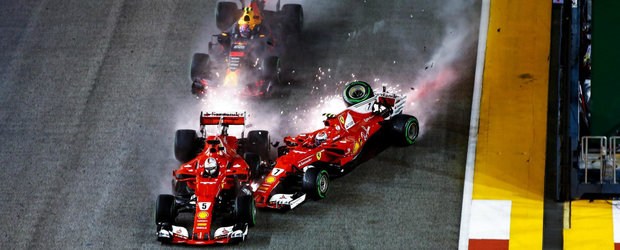 A fost haos in Singapore. Ferrari a abandonat imediat dupa start si Lewis Hamilton a castigat cursa