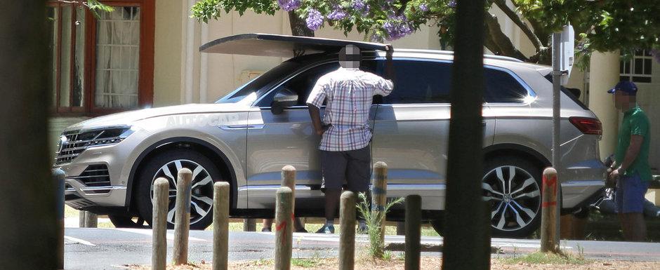 A fost pozat complet necamuflat cu patru luni inaintea lansarii oficiale. Uite cum arata noul Volkswagen Touareg!