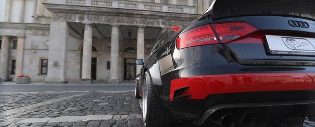 A fost un Audi A4 ca oricare altul, cu motor TDI si tractiune fata. Acum are un V8 sub capota si tractiune integrala
