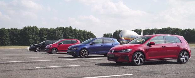 A imprumutat de la VW fiecare GTI vandut la ora actuala si a organizat o liniuta cu masinile primite. VIDEO