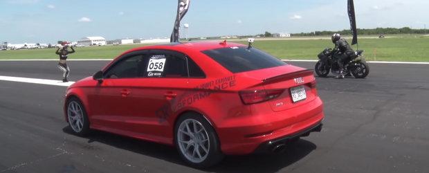 A investit 40.000 de dolari in modificarea acestui Audi si il foloseste zi de zi. Masina are 900 CP