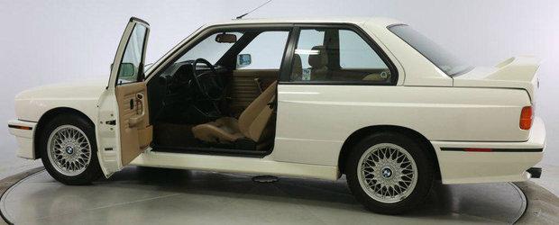 A parcurs doar 9.675 km in ultimii 25 de ani. Suma fabuloasa pentru care se vinde acest BMW M3 E30