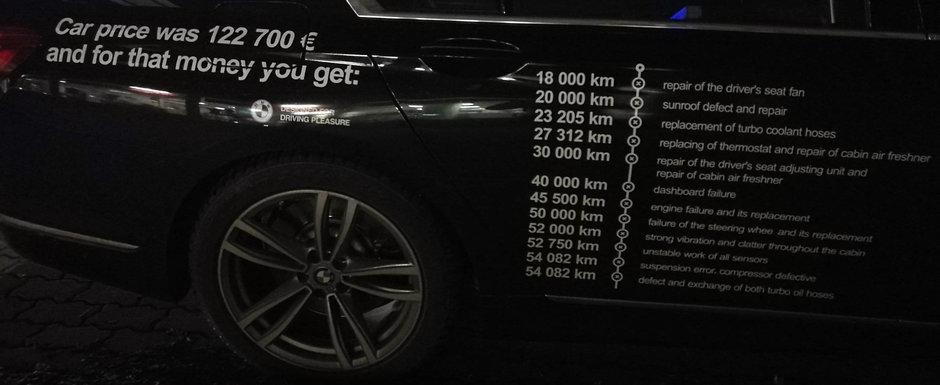 """A platit 122.000 de euro pe o limuzina BMW plina de probleme. """"Asta am primit in schimbul banilor mei!"""""""