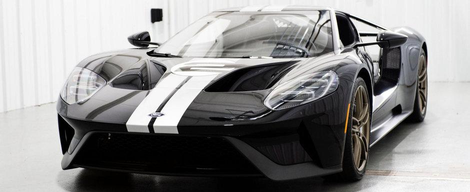A platit o avere pe un Ford GT si acum vrea sa se imbogateasca de pe urma lui. Masina are doar 20 de km la bord