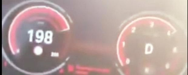 A primit 5.290 de lei amenda dupa ce a postat pe Facebook un film in care conducea cu 200 km/h. Precizarile Politiei Romane