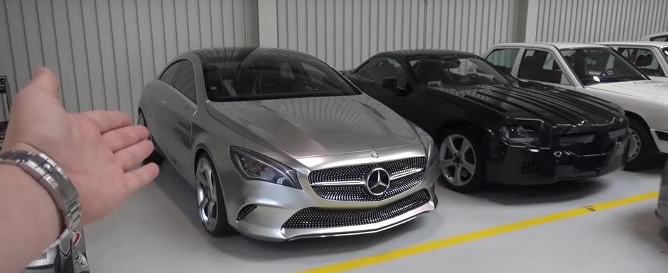A primit acordul sa filmeze in hala secreta de la Mercedes-Benz. Ce masini unice ascunde colectia nemtilor