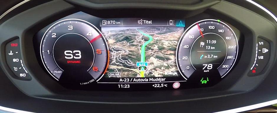 A prins ocazia perfecta, asa ca nu a ezitat sa calce pedala. Test de acceleratie cu noul Audi A8 50 TDI