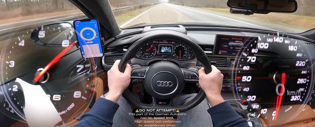 A scos pe autostrada un RS6 cu 700 CP sub capota ca sa vada cat de rapid este. La 324 km/h insa, vitezometrul a luat-o razna complet