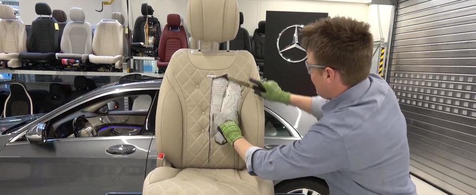 A taiat scaunul unui S-Class ca sa vada ce este in interiorul lui. VIDEO cu cel mai tare experiment de pe internet