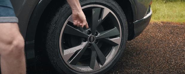 "A testat, in sfarsit, masina cu tractiune spate pe care Audi o construieste la fabrica Volkswagen. ""Uita-te la acesti tamburi!"""