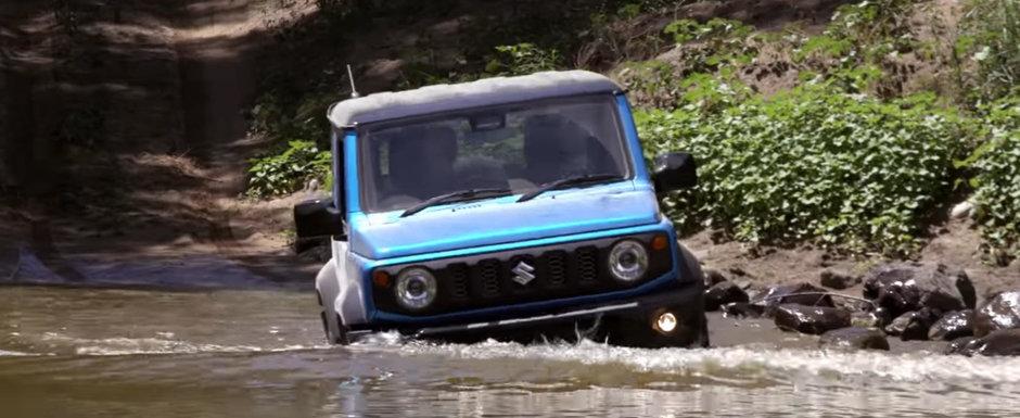 A tinut lejer pasul cu un off-roader V8 pe teren accidentat. Suzuki JIMNY chiar isi merita renumele