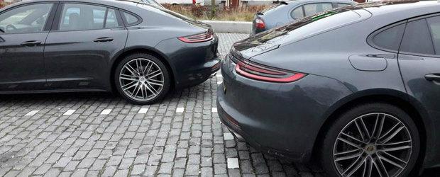 A vrut sa se dea mare cu noua lui achizitie, dar a nimerit langa o masina identica. Pozele din parcare s-au viralizat instantaneu