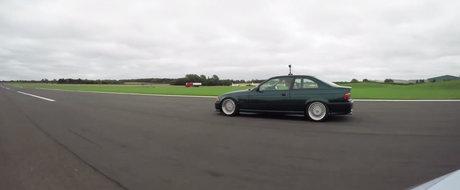 A vrut sa se dea mare cu noua lui masina de 275 CP, dar era sa ia bataie de la un BMW E36. VIDEO