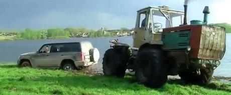 A vrut si el sa-si plimbe iubita la iarba verde. Dar s-a produs haosul, cu noroi si buldozere incluse...