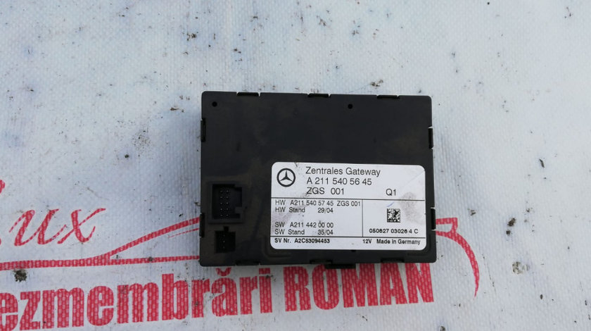 A2115405645 calculator modul inchidere centralizatae class motor 3.0cdi v6 om642 e320 cls320 w211 w219