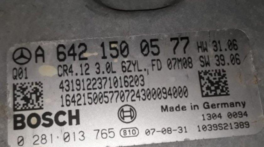 A6421500577 calculator motor ecu Mercedes R320CDI 4matic w251 ML w164 0281013