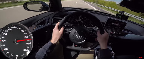 Acceleratia unui Audi RS6 de 750 de cai iti va face ziua mai buna. Crede-ne pe cuvant