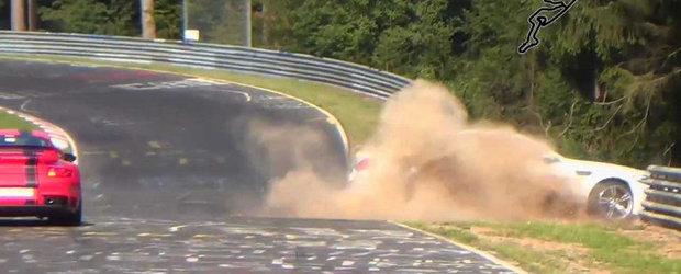 Accident cu BMW M5 Ring Taxi - Momentul impactului