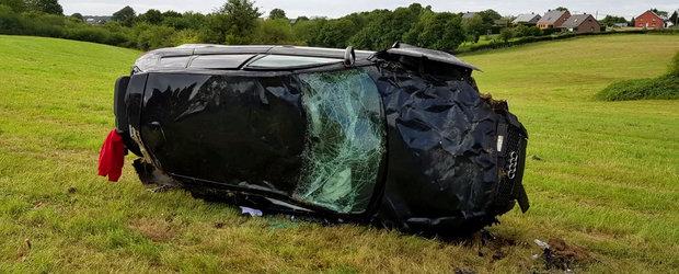 Accident HORROR la 200 km/h. Masina a ajuns un morman de fiare