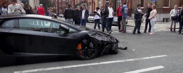 Accident in Londra cu un Lamborghini Aventador. Pagubele depasesc 10.000 euro