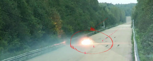 Accident la Moscow Unlim 500: Un Gallardo Twin-Turbo se aprinde la peste 400 km/h