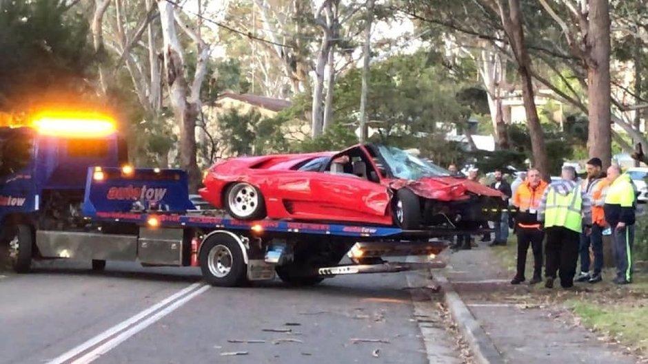 Accident Lamborghini Diablo