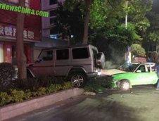 Accident Mercedes G55 AMG