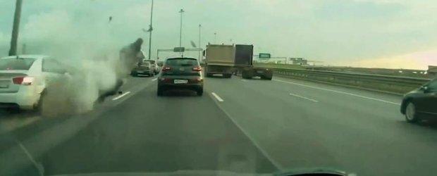 Accident mortal pentru un motociclist inconstient