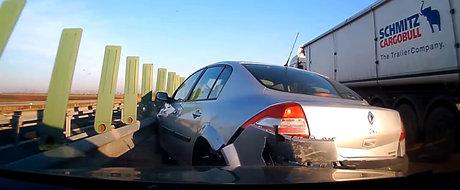 Accident pe autostrada A2: cine crezi ca este de vina?