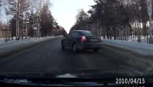 Accident stupid cu Skoda Octavia