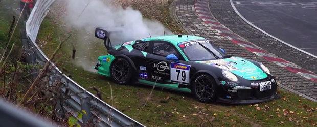 Accidente minore si majore cu masini Porsche la Nurburgring