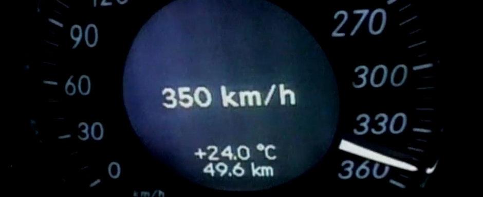 Aceasta berlina germana atingea acum mai bine de zece ani o viteza de 350 km/h. VIDEO ca sa te convingi si singur