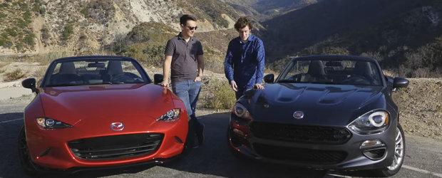 Aceeasi Marie, cu alta palarie! Scurta comparatie intre Fiat-ul 124 si Mazda MX-5