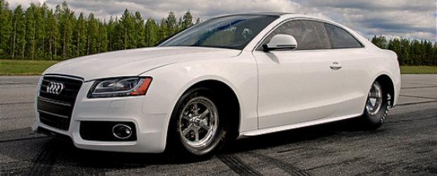 Acest Audi A5 viseaza sa devina Regele Drag-ului...