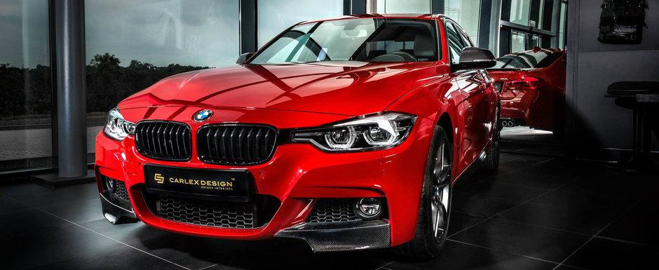 Acest BMW Seria 3 a trecut de la banal la special cu o singura modificare. A primit un interior nou-nout. FOTO