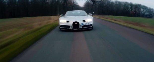 Acest clip video ne-ar putea spune viteza maxima a noului Bugatti Chiron