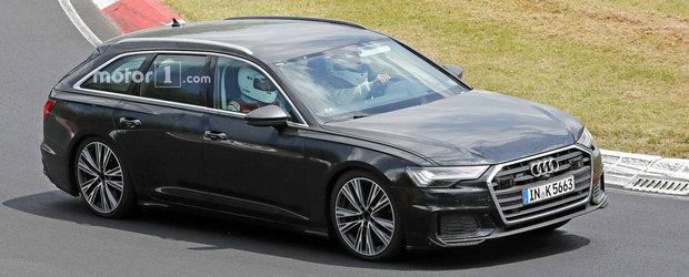 Acesta este noul Audi S6 Avant. Modelul german a iesit pe circuit complet necamuflat