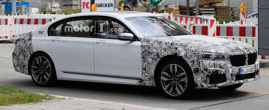 Acesta este noul BMW Seria 7. Modelul bavarez de mare lux a iesit pe strazi partial necamuflat