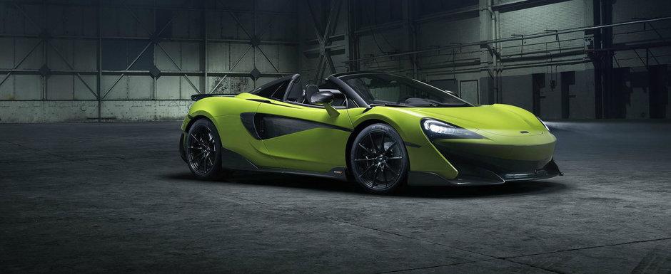 Acesta este noul McLaren 600LT Spider. Are 600 CP si este mai usor decat orice rival din segment