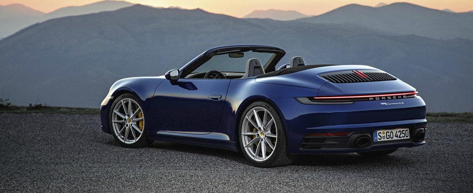 Acesta este noul Porsche 911 Cabrio: acum poti ajunge la 100 de km/h in 3.6 secunde si cu plafonul coborat