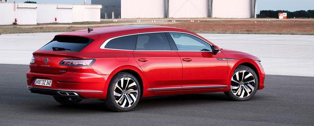 Acesta este noul VW Arteon Shooting Brake! Mult anticipatul break cu alura de coupe a debutat oficial