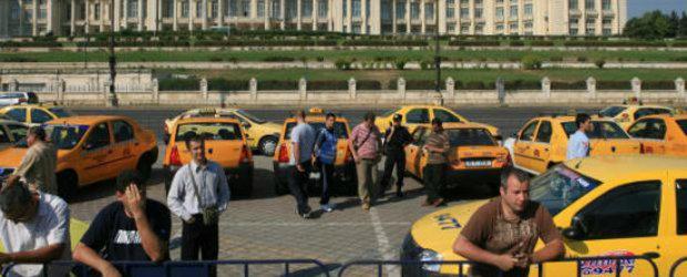 Actiune de protest a taximetristilor bucuresteni