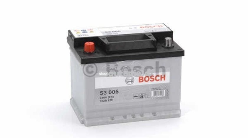 Acumulator baterie auto BOSCH S3 56 Ah 480A cu borne inverse 0 092 S30 060 - produs NOU