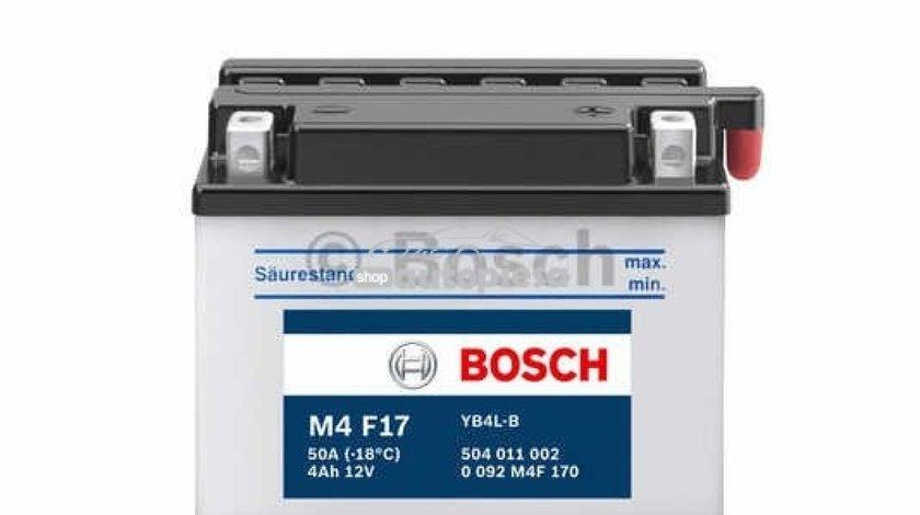 Acumulator baterie motociclete BOSCH M4 4 Ah 50A 0 092 M4F 170 piesa NOUA