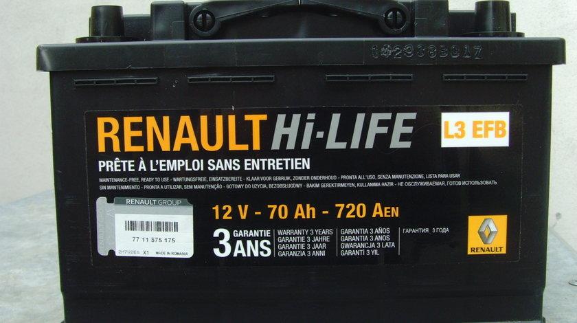 Acumulator,baterie NOUA originala RENAULT 70Ah/720Aen EFB - Start-stop