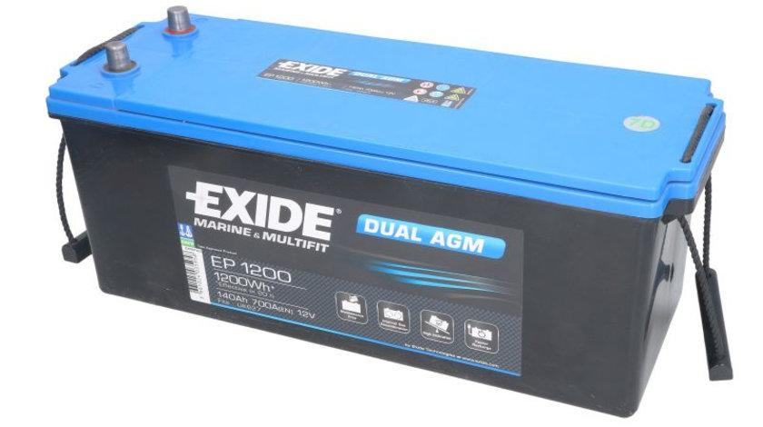 Acumulator EXIDE MARINE MULTIFIT DUAL AGM 12V 140Ah 700A 1200 Wh acumulator pentru aplicatii duale