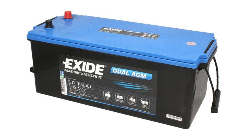 Acumulator EXIDE MARINE MULTIFIT DUAL AGM 12V 180Ah 900A 1500 Wh acumulator pentru aplicatii duale