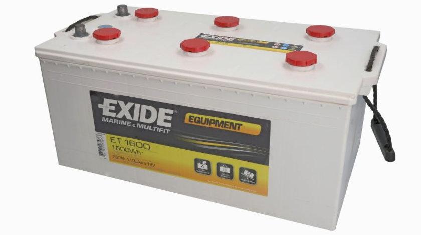 Acumulator EXIDE MARINE MULTIFIT EQUIPMENT 12V 230Ah 1100A 1600 Wh (eficient 20h) acumulator pentru aplicatii duale