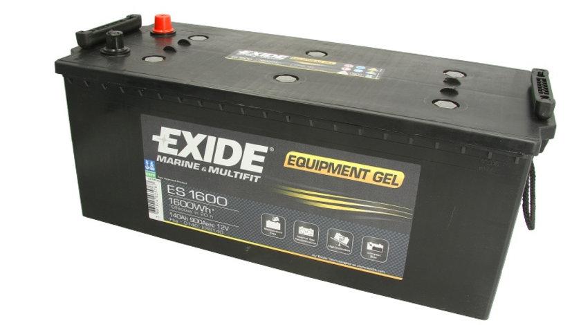 Acumulator EXIDE MARINE & MULTIFIT EQUIPMENT GEL / 12V 140Ah 900A/ 1600 Wh (eficient 20h) / acumulator pentru aplicatii duale cod intern: BC1190A