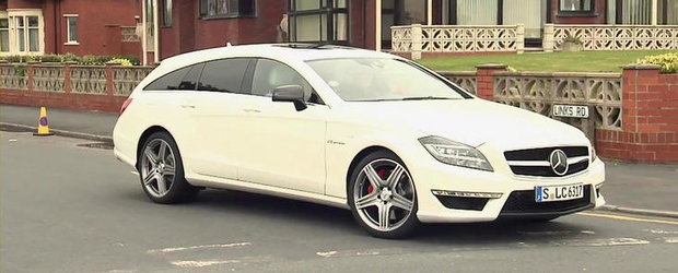 Adam Scott si David Coulthard fac cunostinta cu noul Mercedes CLS63 AMG Shooting Brake